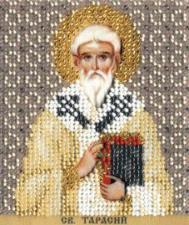 Икона св.Тарасий. Размер - 9 х 11 см.