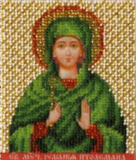 Икона св. Иулиания (Ульяна). Размер - 9 х 11 см.