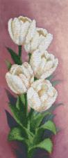 Белоснежные тюльпаны. Размер - 16 х 36,5 см.