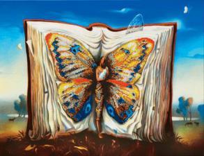 """По мотивам В.Куш """"Книга книг"""". Размер - 43 х 33 см."""