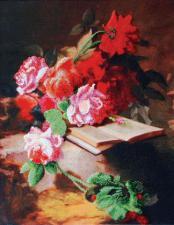 Цветочная поэзия. Размер - 31 х 40 см.