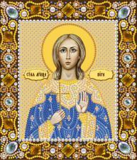 Святая мученица Вера. Размер - 13 х 15 см.