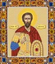 Святой мученик Виктор. Размер - 13 х 15 см.