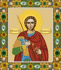 Святой мученик Георгий Победоносец. Размер - 13 х 15 см.
