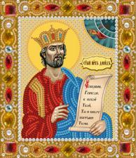 Святой Пророк царь Давид. Размер - 13 х 15 см.