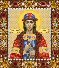 Святой блаженный князь Глеб. Размер - 13 х 15 см.