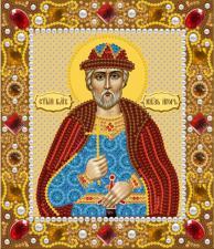 Святой Великий князь Игорь. Размер - 13 х 15 см.