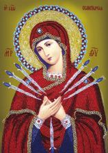 Богородица Семистрельная. Размер - 20 х 27 см.