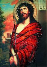 Иисус в терновом венце. Размер - 25 х 35 см.