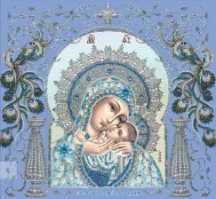 Богородица Корсунская в рамке. Размер - 36,5 х 34,5 см.