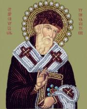 Св. Спиридон Тримифунтский. Размер - 11 х 14 см.