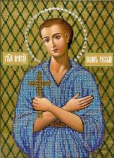 Икона Святой Иоанн Русский. Размер - 19 х 27 см.