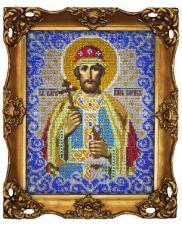 Святой князь Борис. Размер - 18 х 23 см.