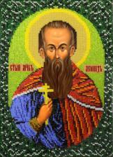 Икона Святой Леонид. Размер - 19 х 26 см.