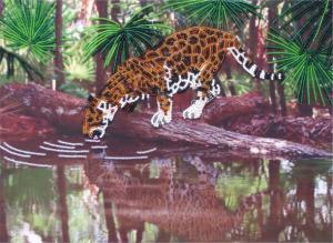 Леопард. Размер - 31 х 24 см.