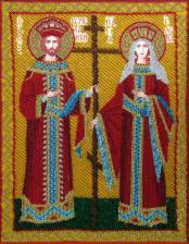 Св. Константин и Елена. Размер - 28 х 35 см.