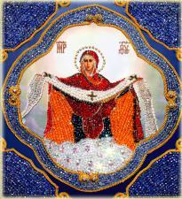 Покрова Пресвятой Богородицы. Размер - 27,3 х 31,2 см.