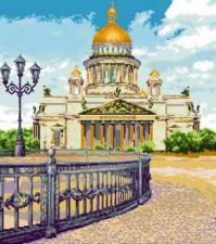 Исаакиевский собор. Размер - 52 х 59 см.