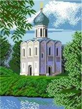 Храм Покрова. Размер - 31 х 41 см.