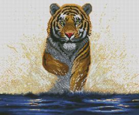 Гордый тигр. Размер - 60 х 50 см.