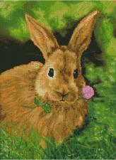 Кролик на обеде. Размер - 39 х 53 см.