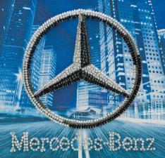 Mersedes-Benz. Размер - 15 х 15 см.