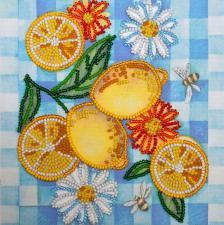 Летние лимоны. Размер - 15 х 15 см.
