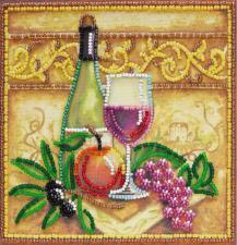Вино и виноград. Размер - 15 х 15 см.