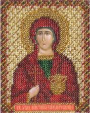 Икона Св. Вмч. Анастасия. Размер - 8,5 х 10,5 см.