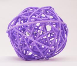 Ротанговый шар (лавандовый). Размер - 7 см.