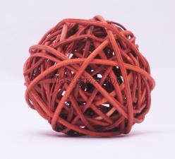 Ротанговый шар (оранжевый). Размер - 7 см.