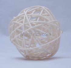 Ротанговый шар (грязно-бежевый). Размер - 7 см.