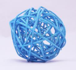 Ротанговый шар (светло-голубой). Размер - 7 см.