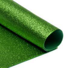 Глиттерный фоамиран (зелёный). Размер - 20 х 30 см.