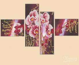 Дикая орхидея. (Полиптих из 4-х частей).