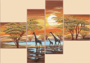 Цвета Африки. (Полиптих из 4-х частей).