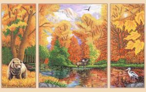 Осень в лесу. (Полиптих из 3-х частей).