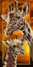 Жирафы. Размер - 15 х 30 см.