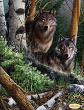 Лесные стражи. Размер - 30 х 40 см.