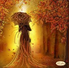 Девушка Осень. Размер - 30 х 30 см.