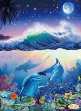 В морских глубинах. Размер - 30 х 41 см.