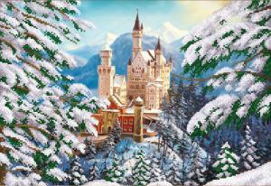 Зимний замок. Размер - 39 х 27 см.