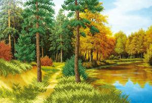 Осень наступает. Размер - 39 х 27 см.