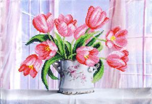 Розовые тюльпаны. Размер - 39 х 27 см.