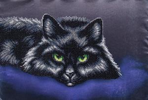 Чёрный кот. Размер - 39 х 27 см.