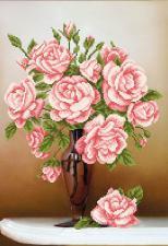 Свежие розы. Размер - 27 х 39 см.
