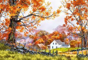 Деревенская осень. Размер - 39 х 27 см.