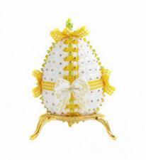 """Декоративное яйцо """"Летний бантик""""."""