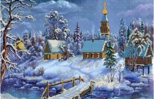 Русская зима. Размер - 40 х 26 см.