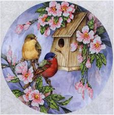 Птичий домик. Размер - 30 х 30 см.